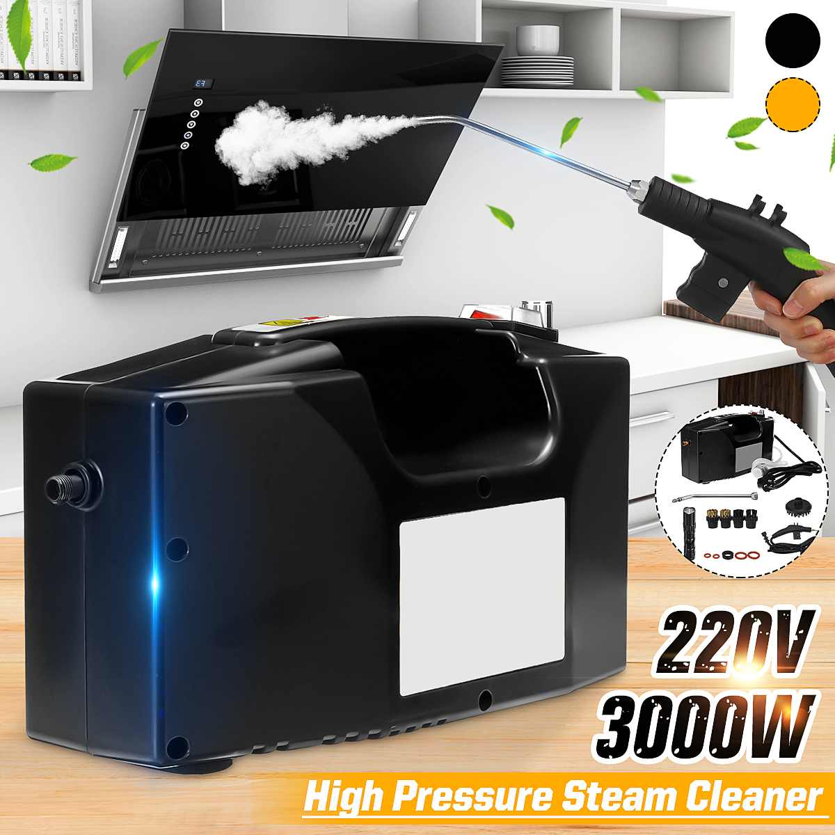 220V 3000W High Pressure Steam Cleaner for Household Kitchen High Temperature Cleaning Machine Cleaner Sanitizer Disinfector
