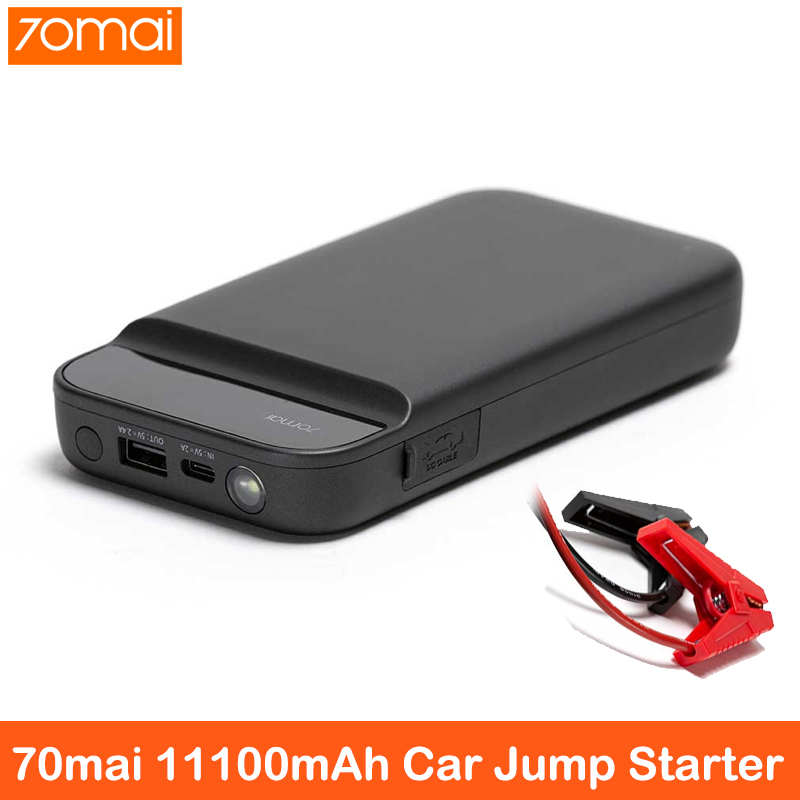 70mai Jump Starter 70Mai Car Jump Starter 11100mAh Battery Power Bank With Bag Car Emergency Battery Booster