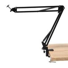 Ayarlanabilir masaüstü kelepçe süspansiyon Boom makas kol montaj standı tutucu Webcam için C922 C930E C930 C920 C615