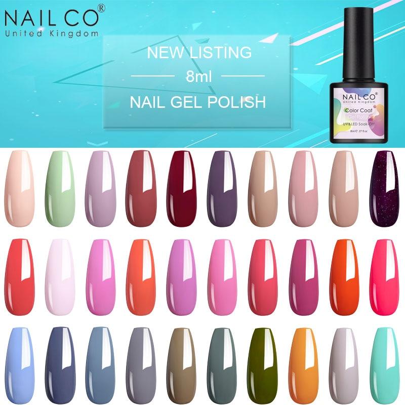 Новое поступление, 8 мл гибридный УФ-Гель-лак NAILCO для дизайна ногтей, полуперманентный отмачиваемый Гель-лак для дизайна и украшения ногтей