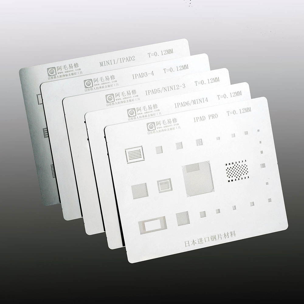 Amaoe BGA Reballing Stencil FOR  iPad 2 3 4 6 Mini 1 4 Pro CPU BGA Reballing Tin Plant Net 1