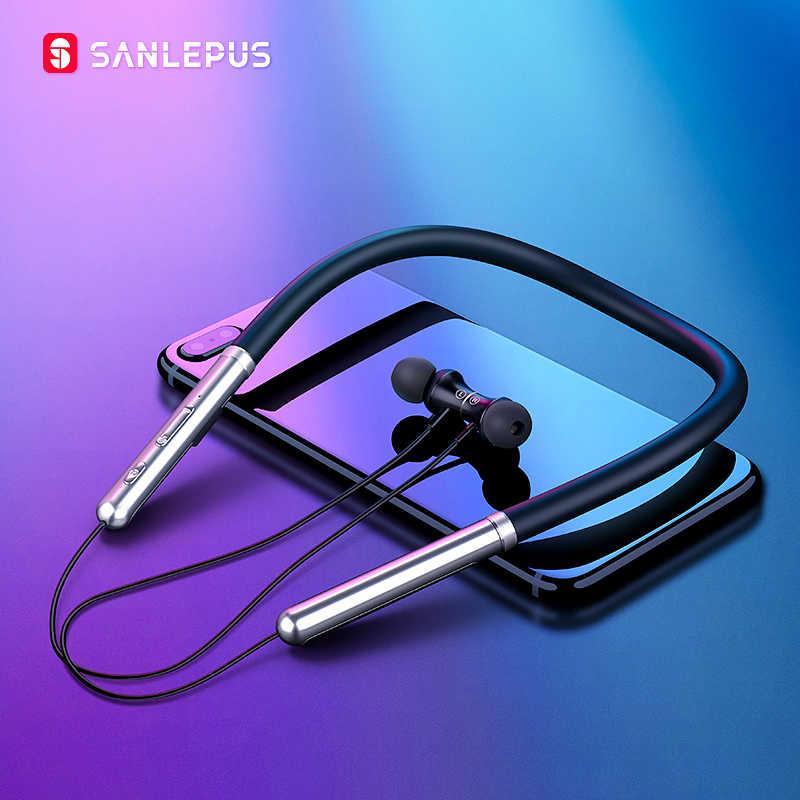 SANLEPUS bezprzewodowe słuchawki Bluetooth słuchawki sportowe słuchawki HiFi słuchawki stereo Auriculares dla Xiaomi telefonów iPhone Samsung