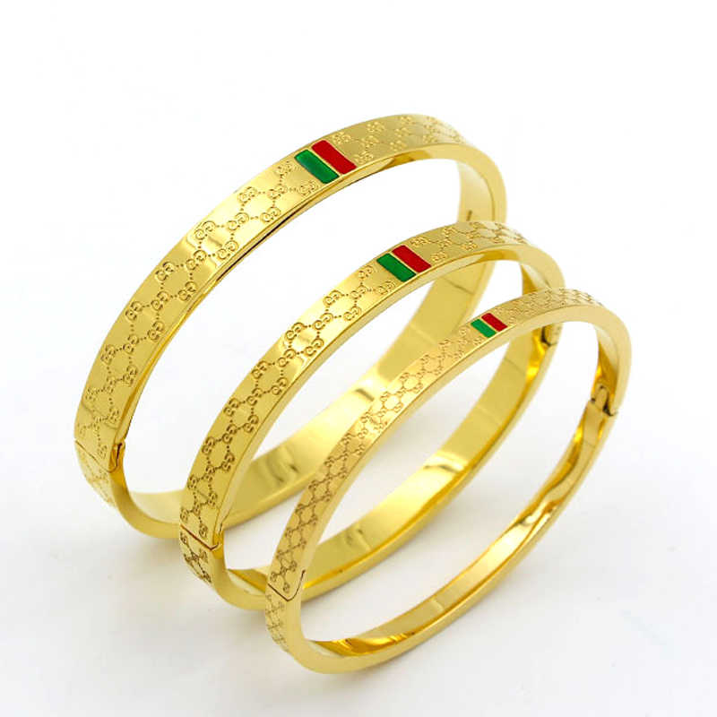 Luxury Brand Bracelet & Bangles Rose Gold Plating Women and Men Bracelet Stainless Steel Charm Trendy Female Jewelry Gift 2019