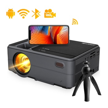 C180AB Home Projector Beamer Video Led Android 6.0 Full Hd 720P Speaker Freeshipping Wireless Airplay Portable Mini Projector 1