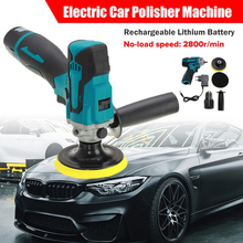 12V Cordless Electric Polisher Machine Car Polishing Waxing Cleaner 5 Speed Adjustable Rechargeable Polish Tool with 2 Battery