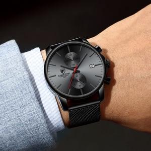 Image 2 - Top Luxury Brand Men zegarki biznesowe chronograf wodoodporny analogowy zegarek na rękę kwarcowy pełny stalowy męski zegar Relogio Masculino