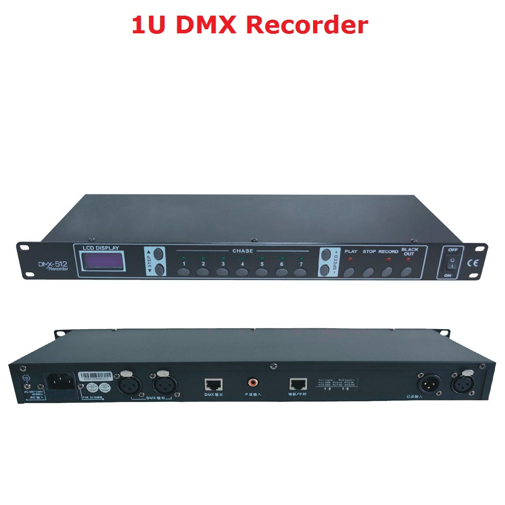 2020 Free Shipping DMX512 Controller 1U DMX Recorder Easy Console Perfect For Stage Dj Disco Party Lighting Shows Projector