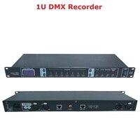 2020 darmowa wysyłka kontroler DMX512 1U DMX Recorder łatwa konsola idealna na scenę Dj pokazy oświetleniowe imprezy dyskotekowe projektor w Oświetlenie sceniczne od Lampy i oświetlenie na