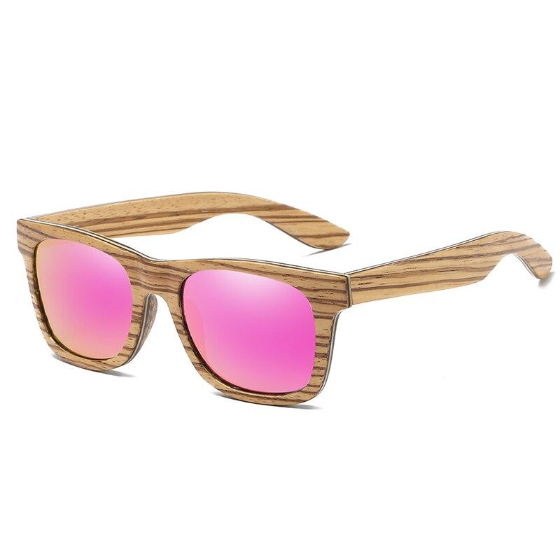 Купить брендовые зеркальные очки gm натуральные ручной работы деревянные