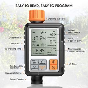 Image 4 - Temporizador de agua automático electrónico con pantalla LCD, controlador de aspersor para jardín al aire libre, dispositivo de riego automático, herramientas de riego