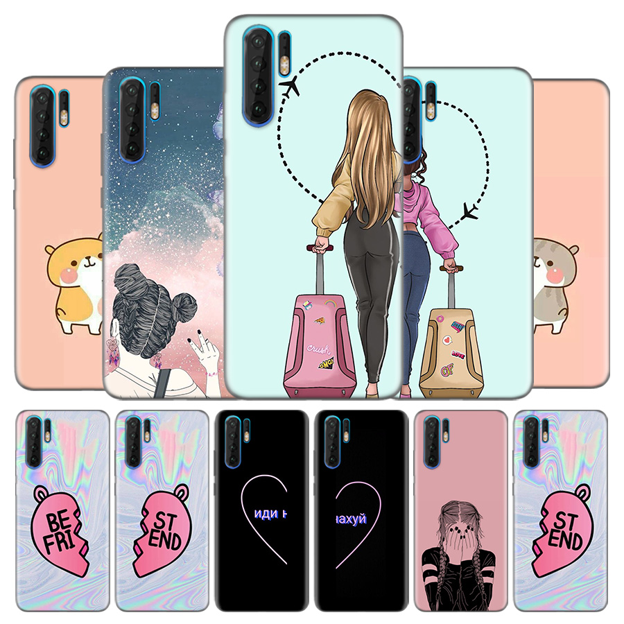 Bosom Friend BFF Besties Best Friend Ladybro Silicone Case Cover For Huawei Mate 30 30Lite 30Pro 5G