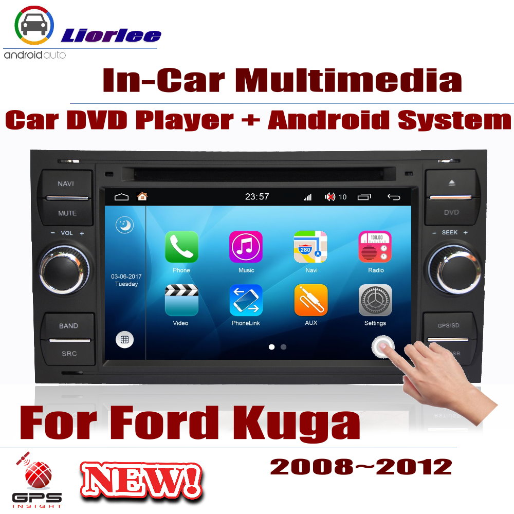For Ford Kuga 2008 2009 2010 2011 2012 Car Android Player Radio DVD GPS Navigation Displayer System Audio Video Multimedia