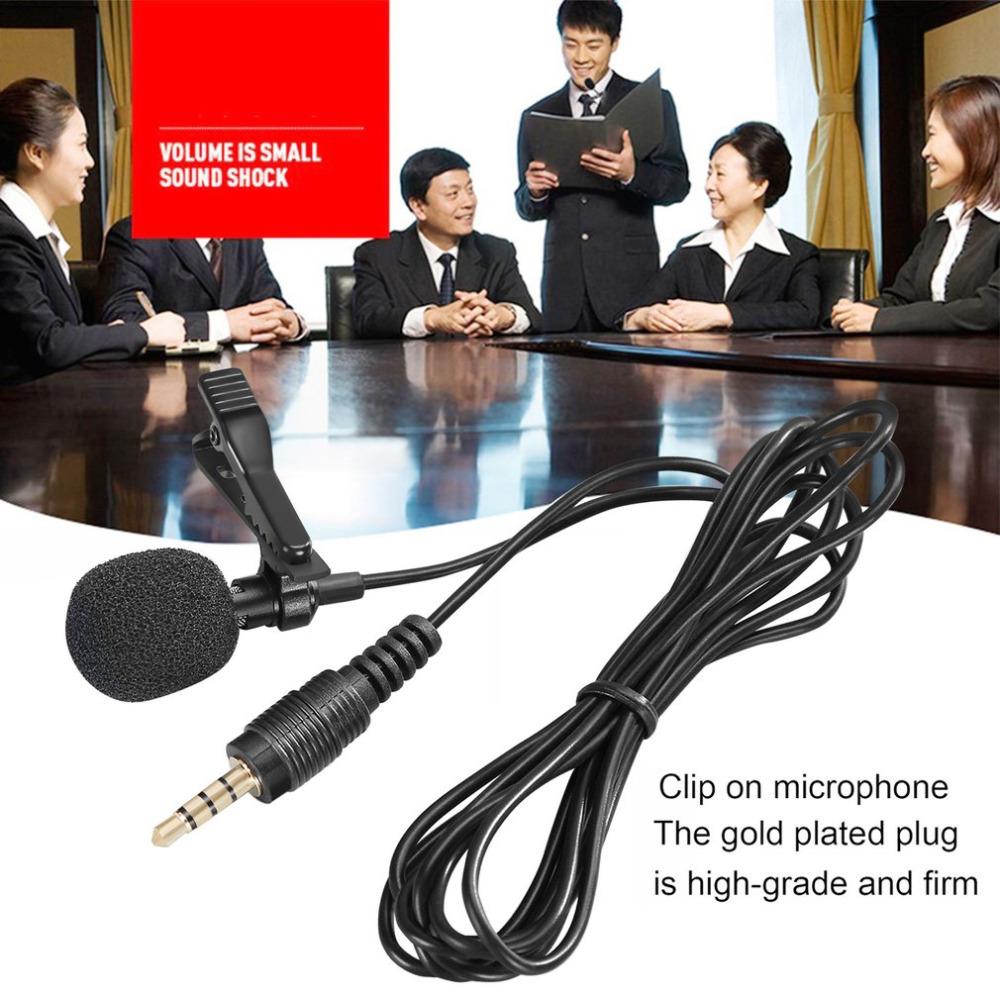 Компактный петличный микрофон с зажимом для галстука микрофоны