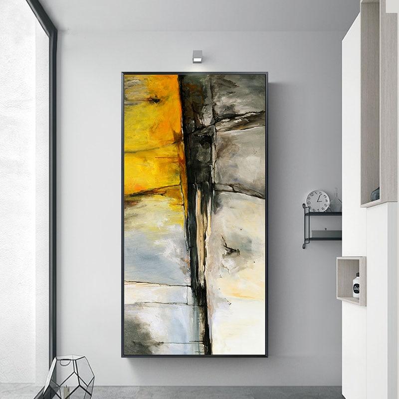 Современный холст Пантинг художественное украшение стены большая картина Золотой постер и печать абстрактная гостиная столовая домашняя картина|Рисование и каллиграфия|   | АлиЭкспресс