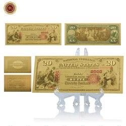 WR США поддельные деньги счеты Позолоченные 20 дюймов телефон с подставкой США USD Prop Money сувенир подарок искусство и ремесло