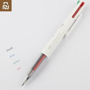 Image 1 - Yeni Youpin KACO kolay 4 1 çok fonksiyonlu kalem 4 renk 0.5mm siyah mavi kırmızı yeşil dolum jel kalem ofis öğrenci için