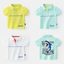 Summer Kids Polo Shirts Short Sleeve Solid Color Gentleman Tee Tops Kid Boys Cotton Turn-down Collar Pocket Polo Shirt 2019 real time limited aretes tassel earrings oorbellen european and american christmas jewelry lovely for apple long ear