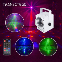 80 Patterns Led Disco Laser Light Sound Party Lights Disco Ball RGB Stage Lamp DJ Led Christmas Mini Strobe Laser Projector Show недорого