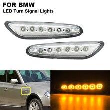 цена на 2X Clear Car LED Brake Turn Signal Side Marker Light Indicator Lamp Fit For BMW E46 E60 E61 E81 E87 E82 E88 E84 E90 E91 E92 E93