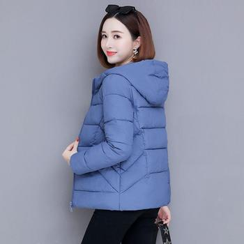 Winter Jacket Women 2020 New Hooded Thick Coat Down Cotton Padded Parkas Female Short Slim Quilted Jacket Warm Outwear women s thick warm long winter jacket women parkas hooded cotton padded winter coat female