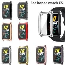 Стекло экран протектор чехол для Huawei Honor ES Smart часы мягкий спорт запястье ремешок часы ремешок экран протектор