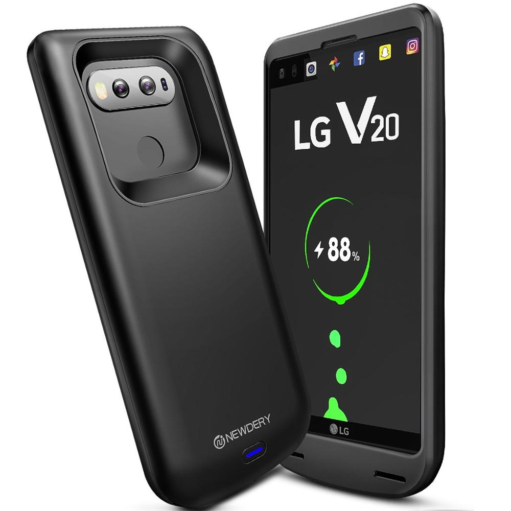 NEWDERY drop shipping phone battery charger case for LG V20 5000mAh Luxurious power bank case for LG V20 full cover