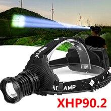 Xhp90.2 Ledไฟหน้าไฟหน้าส่วนใหญ่ที่มีประสิทธิภาพ 32W 4291lmหัวโคมไฟซูมPower Bank 7800MAh 18650 แบตเตอรี่