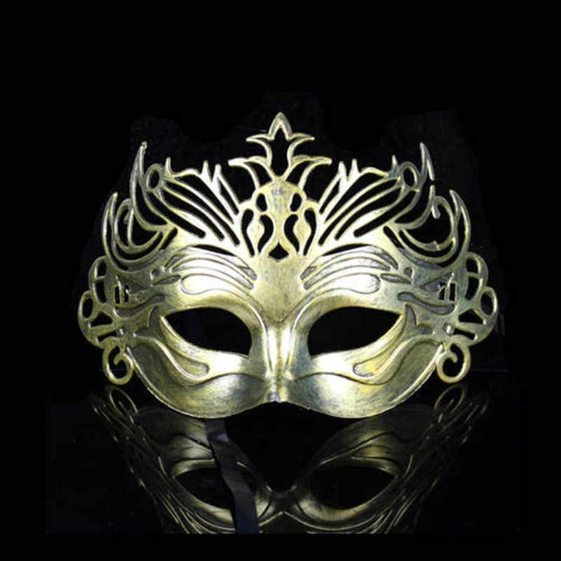 Roman Soldier Male Eyemask Filigree Men Women Venetian Masquerade Eye Masks Party Halloween Cosplay Mardi Masks
