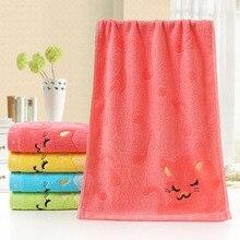 25*50 см мультяшное детское полотенце, детское жаккардовое полотенце с вышитыми нотами, маленькое жаккардовое полотенце с котом