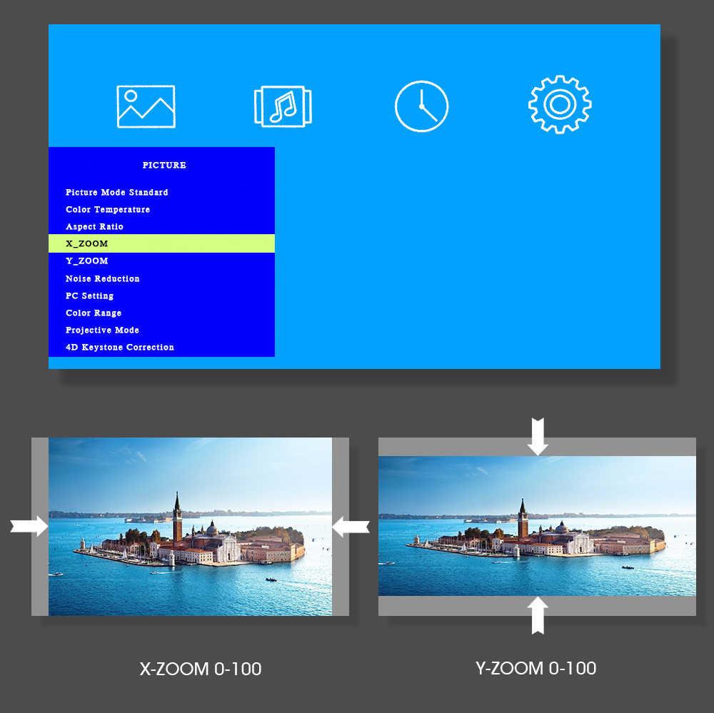 ALSTON M8S 풀 HD 1080P 프로젝터 4K 7000 루멘 시네마 비머 안드로이드 와이파이 Airplay HDMI VGA AV USB 선물