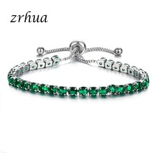New Fashion Bracelets For Women Rose Gold Color And 925 Sterling Silver Zircon Charm Bracelet & Bangles Jewelry Christmas Gifts(China)
