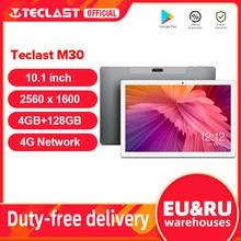 Teclast M30 10.1 inç Tablet 2560x1600 2.5K IPS ekran 4G Phablet MT6797 X27 Deca çekirdek 4GB RAM 128GB ROM Android 8.0 tablet pc