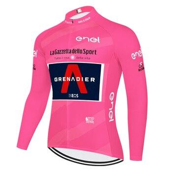 Ineos-Camiseta de manga larga de ciclismo para hombre, ropa térmica de lana...