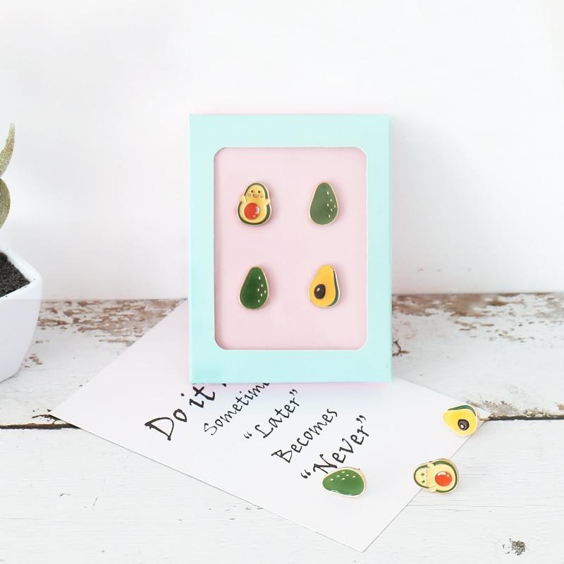 4pcs/box Map Tacks Push Pins Pink Avocado Green Pushpin Shape Cork Head Safety Thumbtack Photo Wall Nail Office School Supply