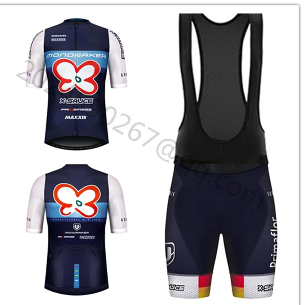 MONDRAKER Team Cycling Jersey Suit Mens Summer Ciclismo Hombre Mtb Bike Clothing Set Bib Shorts Kit Gobiking Maillot Ciclismo