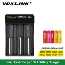 VOXLINK 18650 batterie ladegerät 5V 2A USB kabel schnelle lade 26650 18350 14500 26500 22650 Li-Ion Akku ladegerät