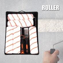 Professionelle Wand Malen Roller Pinsel Set Austauschbare Hause Renovierung Werkzeug Kit Freies Verschiffen L5 #4