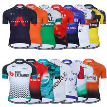 2021 Summer Mens Team Cycling Pro Jersey MTB Uniform Mountain Bike Clothing Quick Dry Bicycle Clothes Short Maillot