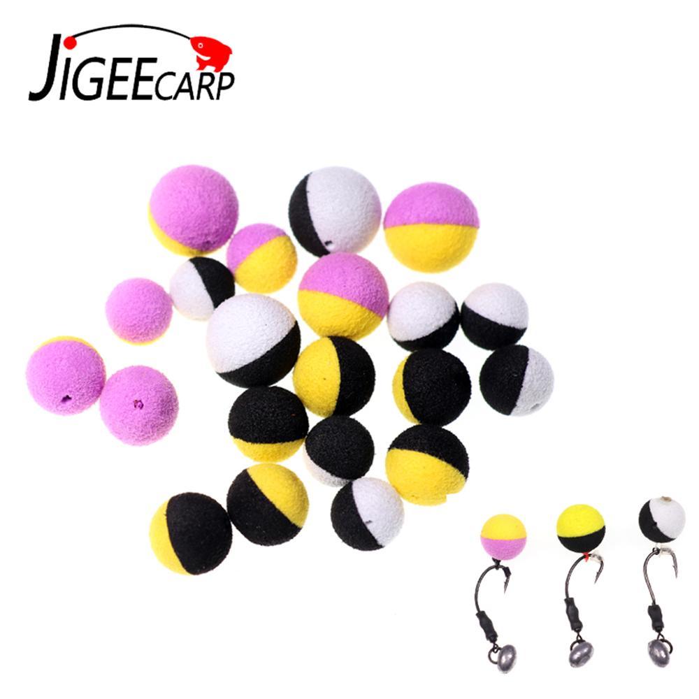 JIGEECARP 10/12PCS Carp Fishing Boilies Bait Foam Pop Up Boilies Ball Resembling Carp Hair Zig Rig Feeder Method Fishing Lures