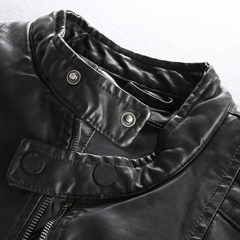 Chaquetas de cuero de imitación Estilo Vintage para hombre estilo europeo y americano Otoño Invierno abrigos de cuero de motorista para hombres abrigos A257