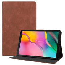 Per il caso di Samsung Galaxy Tab 10.1 Pollici Tablet 2019 T510/T515 DELLUNITÀ di elaborazione di Cuoio Piegante Del Basamento Del Foglio Della Copertura con angoli di Visione multipli