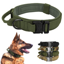 Military Tactical Dog Collar German Shepard Medium Large Dog Collars For Walking Training Duarable Dog Collar Control Handle