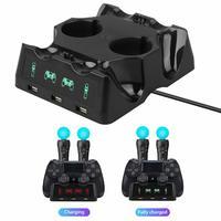 Für PS4 PS Bewegen VR PSVR Joystick Gamepads 4 in 1 Controller Lade Dock Ladegerät Stehen Für PS VR Bewegen PS 4 Spiele Zubehör