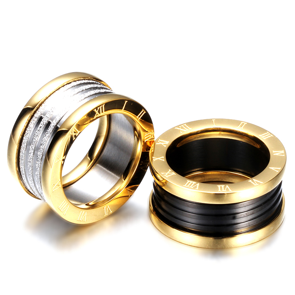 Antique Retro Stainless steel Rings For Women Men Jewelry Anillos Engagement Wedding Bague Homme Party Accessories Vintage 6