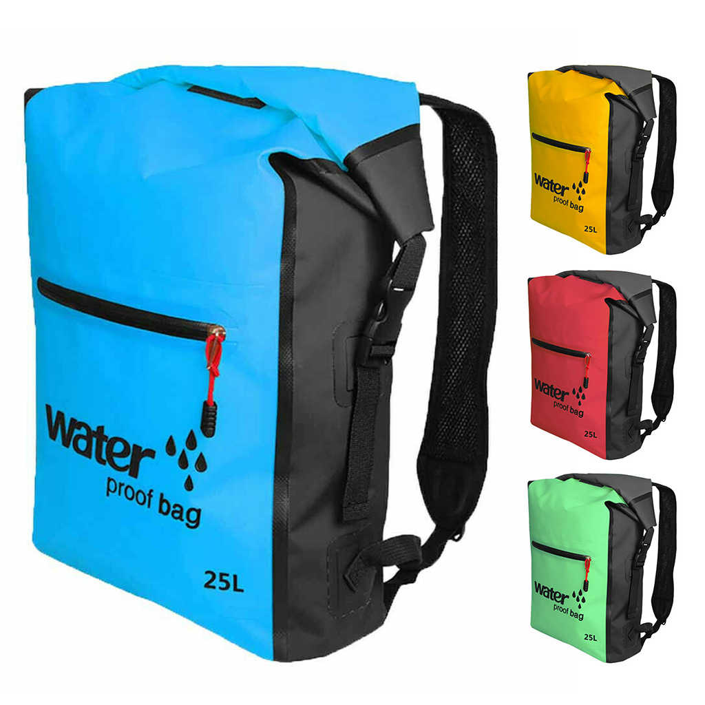 25L Outdoor Waterproof Swimming Bag Backpack Bucket Dry Sack Storage Bags Rafting Sports Kayaking Canoeing Travel Pack