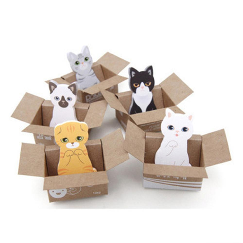Adeeing 3D Cartoon Cat Dog Box Stickers Lovely Stationery Sticky Notes Office School Supplies Memo Pad Random Style R60