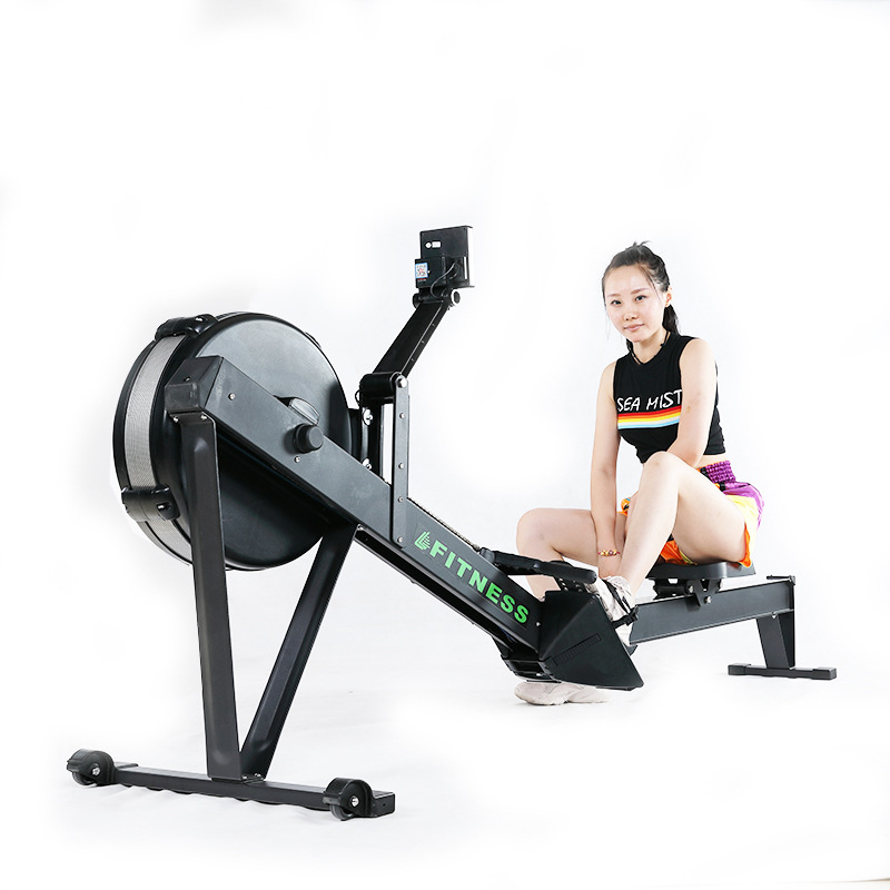 Wind Resistance Rowing Machine Home Indoor Commercial Gym Silent Folding Paddle Rowing Training Machine