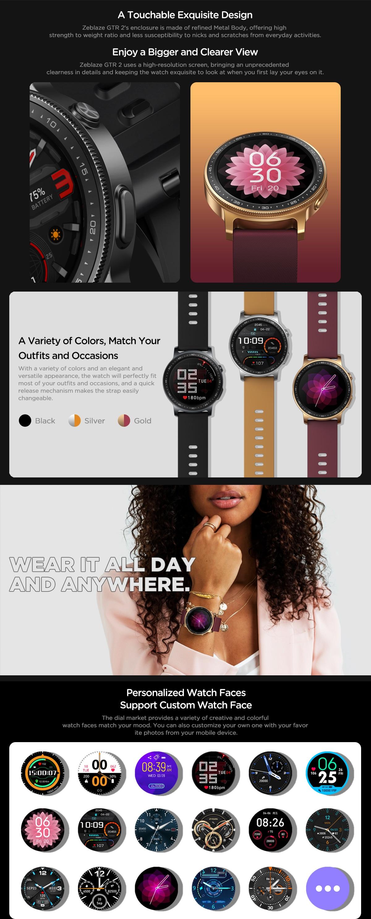 Zeblaze GTR 2 smartwatch 7