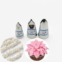 3 pces #95 #951 #113 folhas bicos de confeitaria de confeiteiro bicos para decoração bolos cupcake pastelaria dicas ferramentas de decoração do bolo creme bico|  -