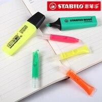 6 قطعة/الوحدة Stabilo 070 تمييز عبوة ل Boss 70 مشرق الملونة البيئة اللون 2-3 مرات الملء 4 ألوان اختيار